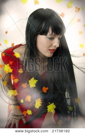 Beauty Girl With Developing Long Hair