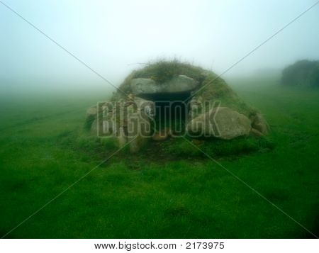 Ancient Tomb In The Fog