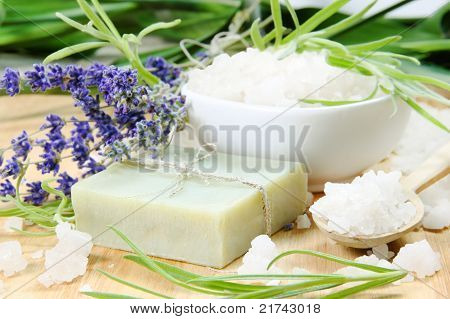 Herbal Soap With Salt And Herbs