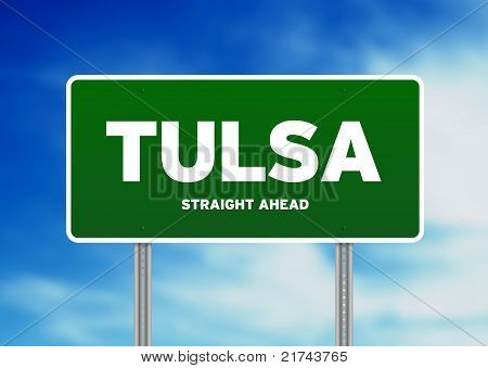 Tulsa, Oklahoma Highway  Sign