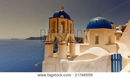 Santorini Oia Church Sunset