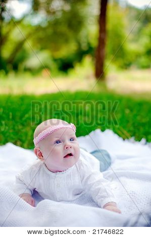 Little Girl With Pink Headband