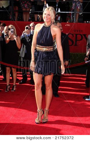 LOS ANGELES - JUL 13:  Maria Sharapova arriving at the 2011 ESPY Awards at Nokia Theater at LA Live on July 13, 2011 in Los Angeles, CA