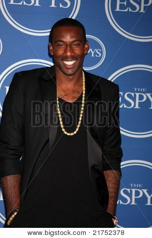 LOS ANGELES - JUL 13:  Amar'e Stoudemire in the Press Room of the 2011 ESPY Awards at Nokia Theater at LA Live on July 13, 2011 in Los Angeles, CA