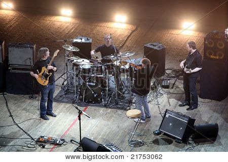 KYIV, UKRAINE - JULY 13: Mike Stern Band in concert on July 13, 2011 in Kyiv, Ukraine.
