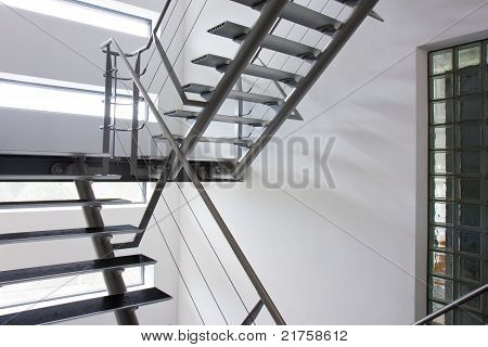 Emergency Exit By A Stairwell In A Modern Building