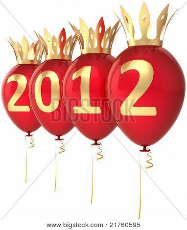 2012 Happy New Year Royal balloons