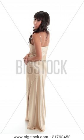 BBeautiful Woman In Long Evening Dress