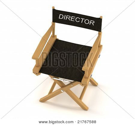 Flim Industry: Top View Of Directors Chair