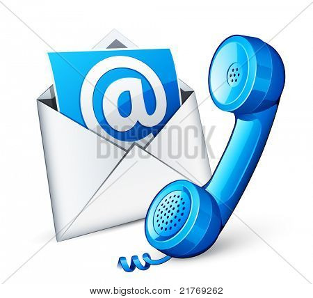 mail icon and blue phone