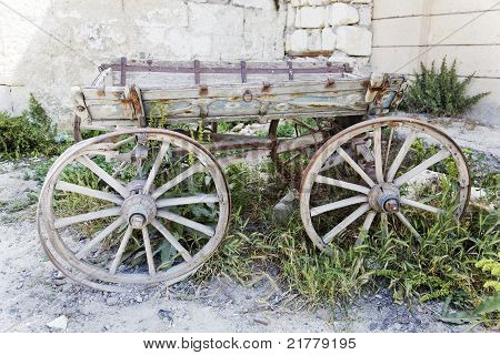 Rotting Wooden Wagon Turkey