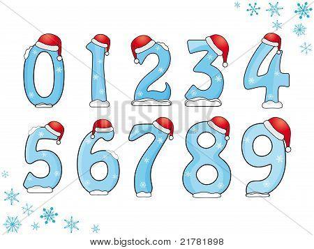 Set of Christmas numbers
