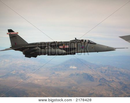 British Harrier Flying Formation With Tanker 2