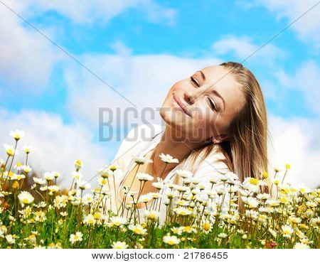 Enjoying On The Flower Field