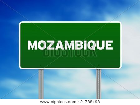 Mozambique Highway Sign