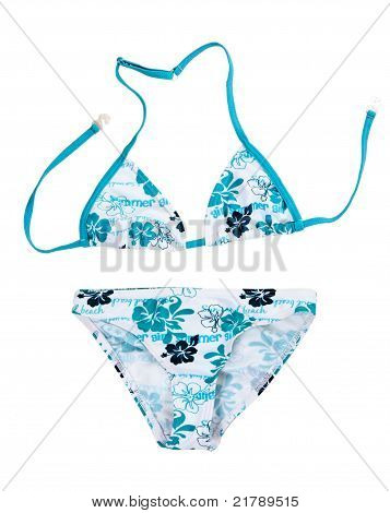Swimsuit With A Blue Pattern