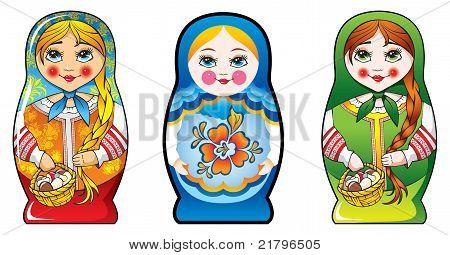 Russian nesting dolls - matryoshka