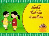 stock photo of rakshabandhan  - beautiful concept greeting card for rakshabandhan celebration - JPG
