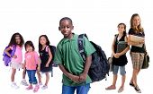 stock photo of school child  - Going to school is your future - JPG