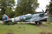 image of spitfire  - Airplane Supermarine Spitfire in a museum in The Netherlands - JPG
