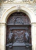 Постер, плакат: Деталь двери собора Богоматери в Роскилле