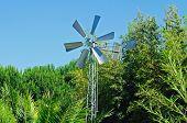 foto of mennonite  - Park windmill Portugal forest trees nature landscape - JPG