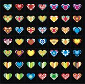 Vector collection of hearts