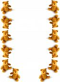 foto of stuffed animals  - teddies tumbling down the page - JPG