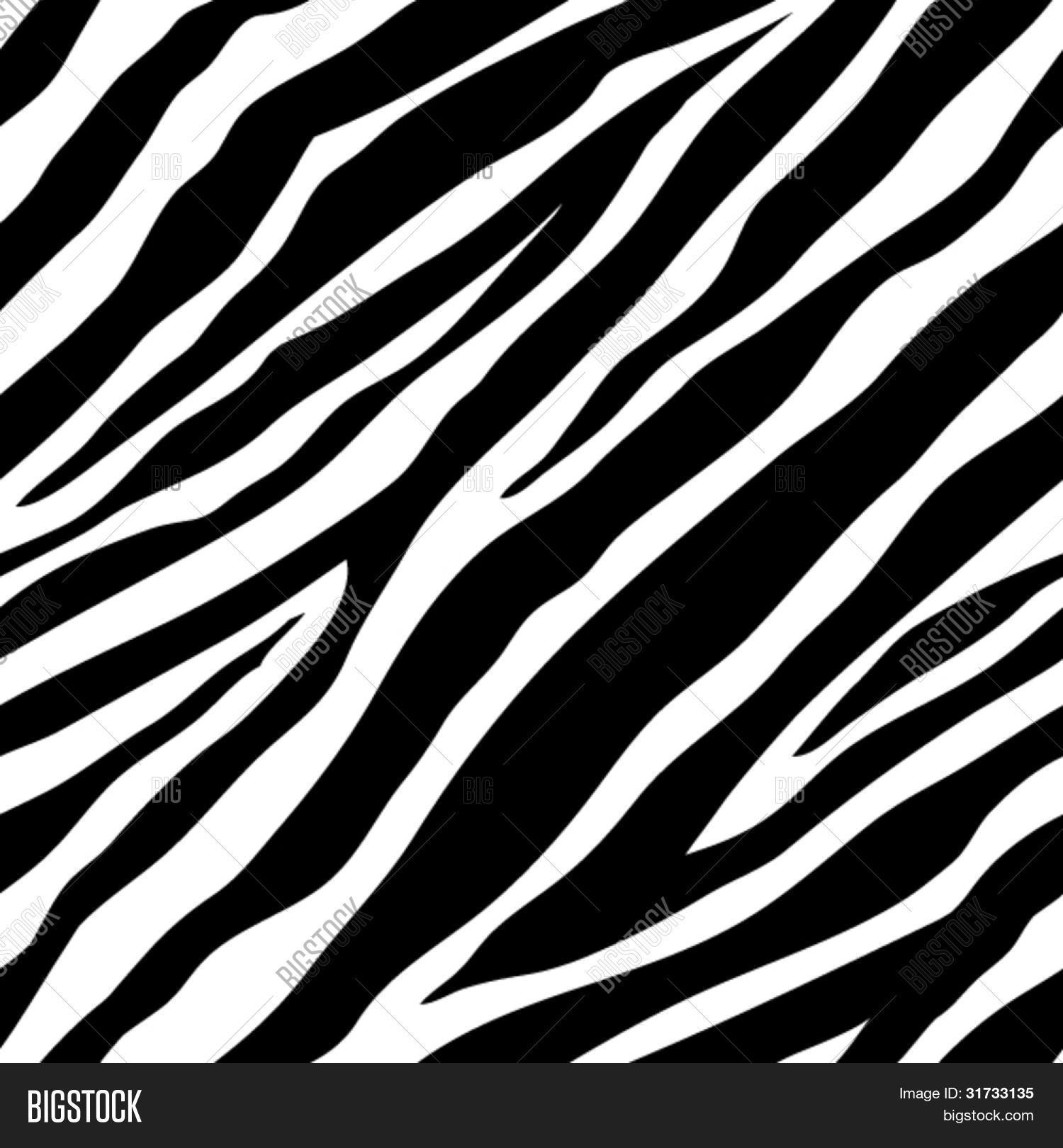 vector illustration of seamless zebra pattern stock vector stock photos bigstock. Black Bedroom Furniture Sets. Home Design Ideas