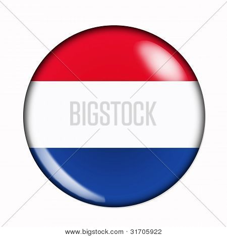 Button Flag Of Holland