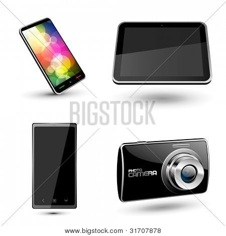 Set of various mobile devices icons. Vector
