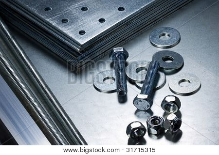 Metal work tools, steel parts.