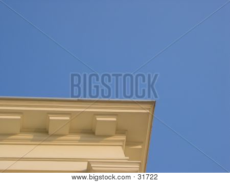 Eave Against Blue Sky