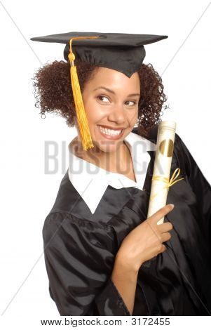 Graduate With Her Diploma