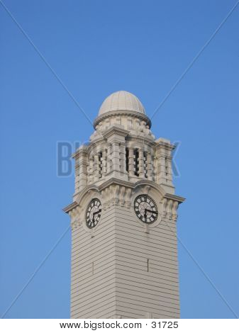 Clock Tower Against Blue Sky