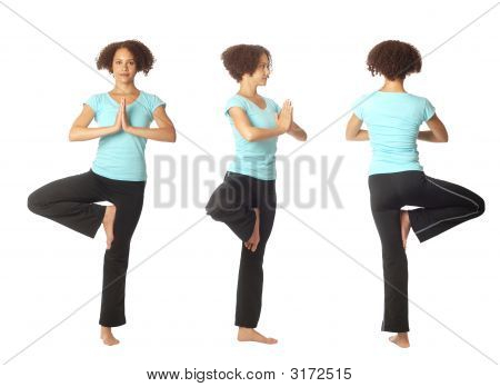 Three Views Of A Yoga Pose