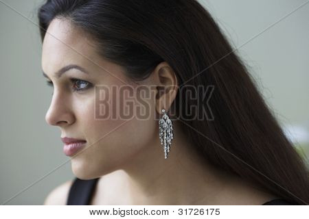 Profile portrait of woman
