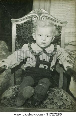 Foto de época de niño (años 50)