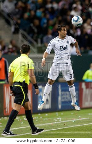 CARSON, CA. - JUNE 1: Vancouver Whitecaps FC F Camilo #37 in action during the MLS game between Vancouver Whitecaps & Chivas on June 1 2011 at the Home Depot Center.