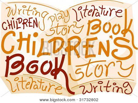 Text Illustration Celebrating Children's Book Day