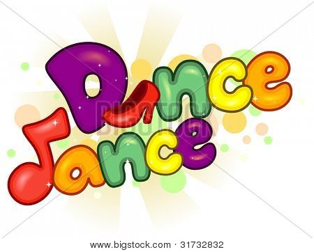 Text Illustration with a Dancing Theme