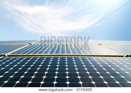 Solar Panel Modules In The Sun