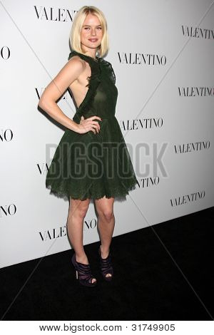LOS ANGELES - MAR 27:  Alice Eve arrives at the Valentino Beverly Hills Opening at the Valentino Store on March 27, 2012 in Beverly Hills, CA