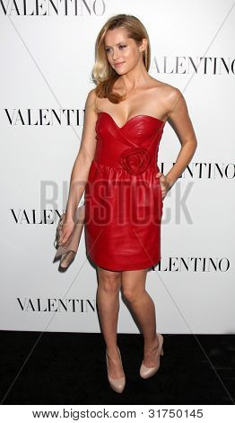 LOS ANGELES - MAR 27:  Teresa Palmer Valentino Beverly Hills Opening at the Valentino Store on March 27, 2012 in Beverly Hills, CA