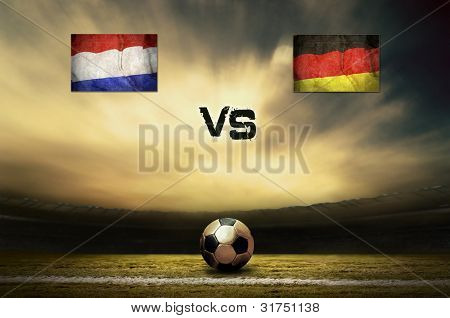 Friendly soccer match between Holland and Germany