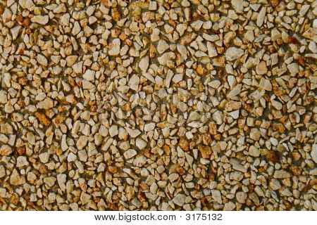 Gravel With Cement In The Wall
