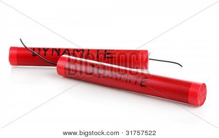 Dynamite isolated on white