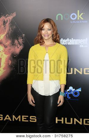 LOS ANGELES, CA - MAR 12: Amy Paffrath at the premiere of Lionsgate's 'The Hunger Games' at Nokia Theater L.A. Live on March 12, 2012 in Los Angeles, California