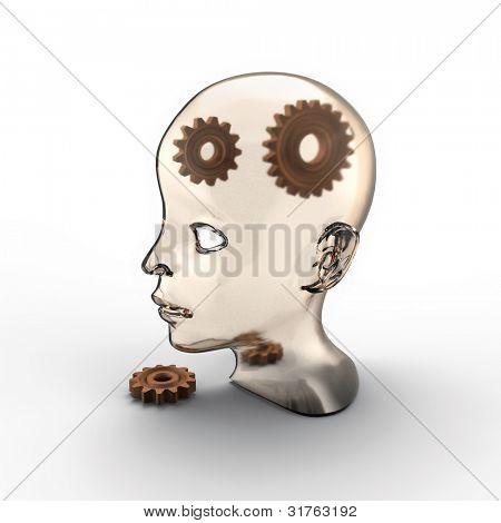 broken gears in human head