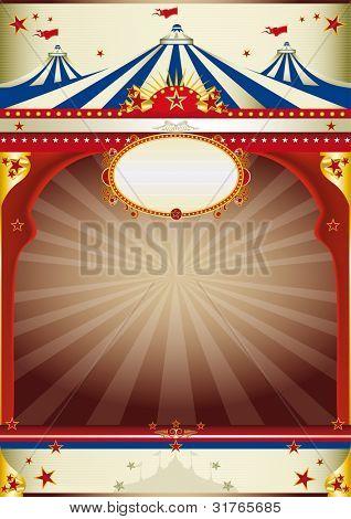 vintage maravilloso circo de fondo un viejo cartel de estilo para su publicidad.